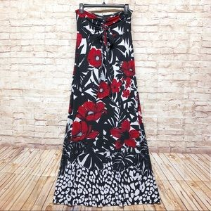 WHBM Maxi Dress Strapless Or Halter Top Floral